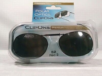 0dbf04c93b6a3 POLAR OPTICS CLIP Ons premium Polarized glasses lenses cover W  Case ...