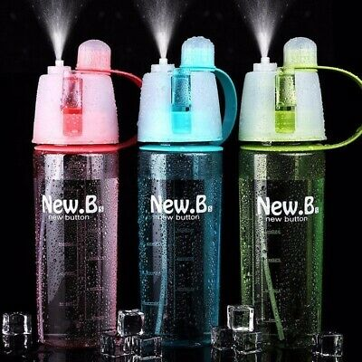 400/600ml Outdoor Sports Climbing Running Cycling Mist Spray Drink Water Bottles