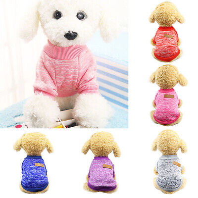 Puppy Soft Pet Dog Sweater Chihuahua Pullover Clothes Pet Outfit Jumper Proper