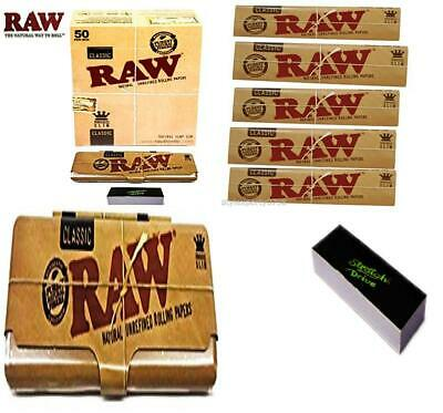 RAW Classic Natural Unrefined Rolling Papers Full Box (50 BOOKLETS) + 1...