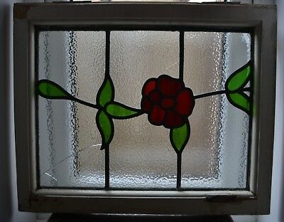 1 British leaded light stained glass window panel. B873.