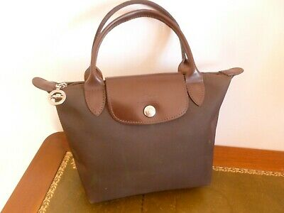 Lisse Petit A Toile Sac Cuir Chocolat Garniture Customiser Longchamp TAYq1a