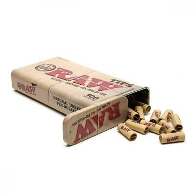 RAW Natural Unrefined Pre-Rolled Tips in Tin - 100 Per