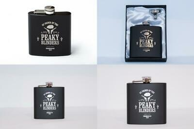 Peaky Blinders Inspired 6oz Black Hip Flask Gift Perfect for Stag Parties,...