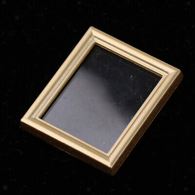 Delicate Rectangle Mural Wall Painting Frames 1/12 Dollhouse Miniature Decor