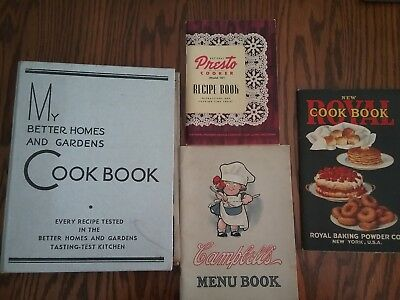 Lot of Vintage cookbooks,Royal, Better homes, Campbell's, Presto