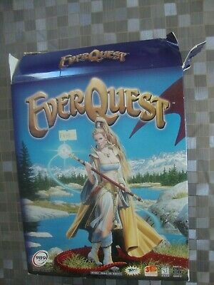 BOITE  EVERQUEST (vide)  avec 3 CARTES (1 en double)  : NORRATH  FREEPORT QEYNOS
