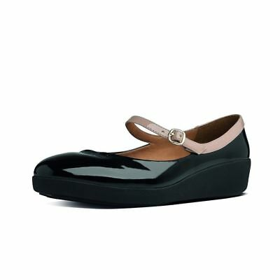 68781e0a9 FitFlop™ F-POP PATENT LEATHER MARY JANE BALLERINA PUMPS SHOES UK 6 EU 39