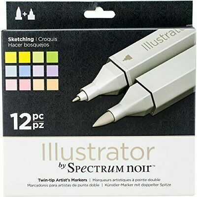 Spectrum Noir Illustrator Pack Of 12 - Sketching
