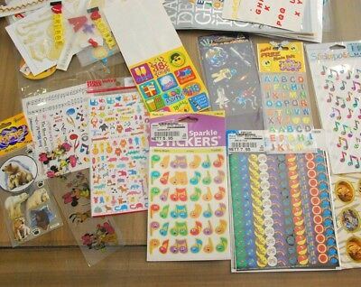 Bulk Stickers. Lots of Music, Lettering, Christmas, Animals, etc.