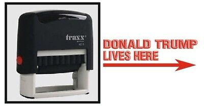 Donald Trump Lives Here Self Ink Rubber Red Stock Stamp - Traxx Donald Trump