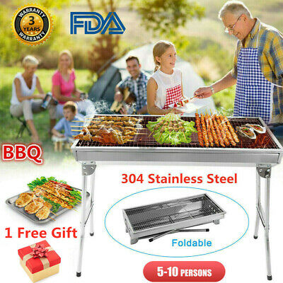 Barbecue Grill Charcoal Stove BBQ Portable Outdoor Garden Camping Folding Travel