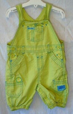 Baby Boys Yellow Green Blue Cheeky Monkey Cotton Dungarees Age 12-18 Months