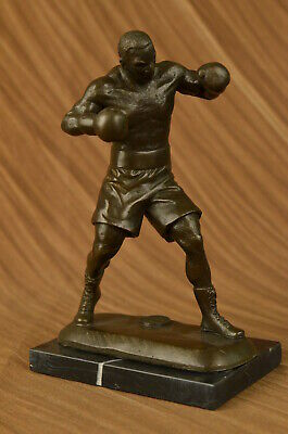 Art Deco Mike Tyson Western Artwork Sport Memorabilia Trophy Bronze Sculpture