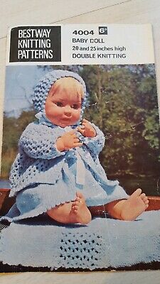 c71bf05d9b76 VINTAGE BESTWAY BABY Doll Knitting Pattern for Dolls 20   25 inches ...