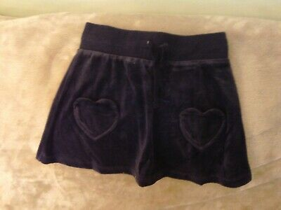 Girls 5-6 Years - Navy Blue Velour Skirt - H&M