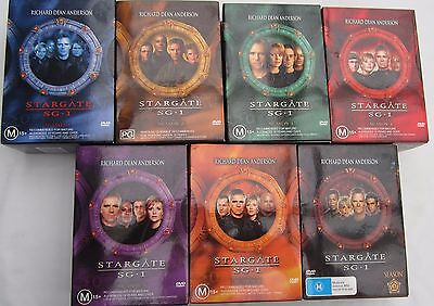 Stargate Sg-1 -Seasons 1,2,3,4,5,6,8,-35 Dvd's Each With 180 Minutes Of Episodes