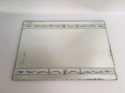 Antique Stenciled Mercury Mirror Shabby Chic Early 1900s Frameless Decorative