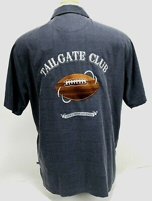 Tommy Bahama NWT  120 NFL Football Embroidered Mens Shirt Size Medium 100%  Silk 3f485e4bc