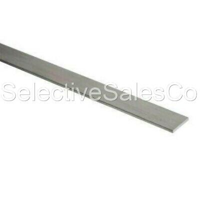 "Stainless Steel Flat Bar Stock  1/8"" x 1"" x 6 ft. Rectangular 304 Mill Finish"