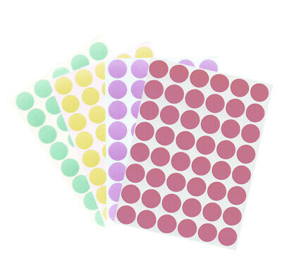 Round Pastel Color Labels 19mm Marking Stickers 3/4 Inch for Organizing Arts