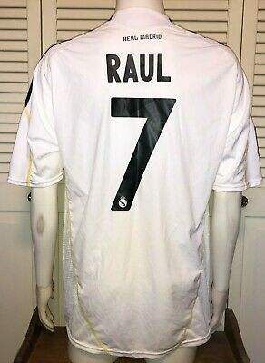 9e32fa4c62d Adidas Real Madrid 2009 10 Home Kit Raul  7 Men s XL Soccer Football Jersey