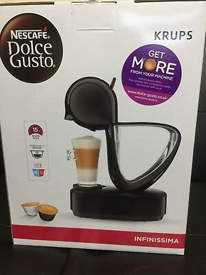 Krups Nescafe Dolce Gusto Infinissima EDG260.W Coffee Machine Black