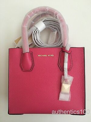 100dac965e10  248New In Package Michael Kors Mercer Medium Messenger Crossbody Rose Pink  Gold