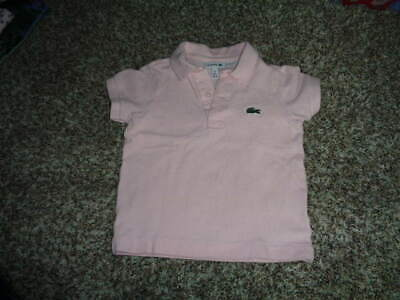 Lacoste 2 86 2T Pink Collared Boys Shirt Toddler