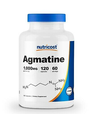 Nutricost Agmatine Sulfate 1000mg, 120 Capsules - 500mg Per Capsule