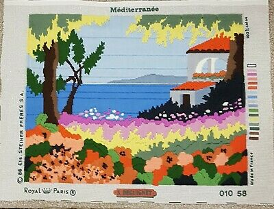 Completed Long Stitch Mediteranee