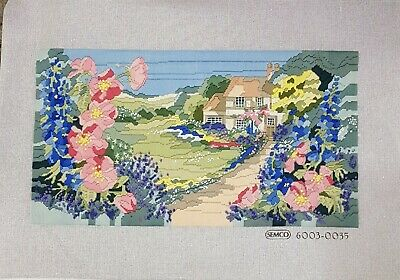 Completed Long Stitch Rose Cottage