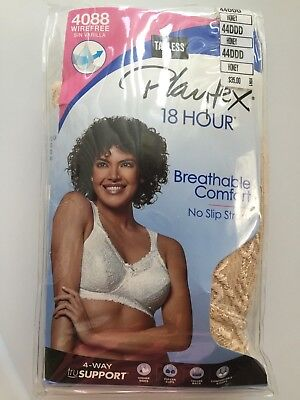 08db438486 Playtex 18 Hour Comfort Lace Wirefree Bra - 4088 Honey Size 44DDD NEW  35