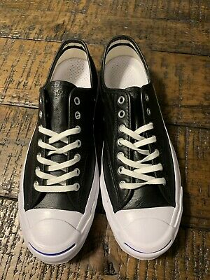be9f7793b6474f Converse Jack Purcell Signature OX Black Leather 149910C Mens SZ 10.5 NO BOX  TOP