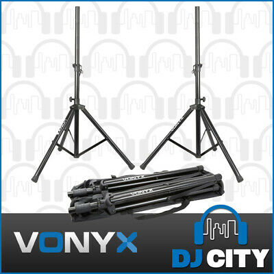 Speaker Stands Pair with Gig Bag Strong Aluminium 35mm 30Kg PA Professional