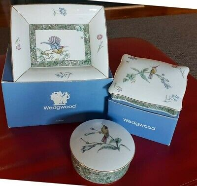 Wedgewood Hummingbird - 3 Pieces - As new with boxes