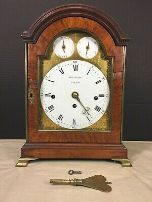 Brockbank Triple Fusee Bracket Clock 1780s 8 Bell Chime Nest 1 Bell Hour Strike
