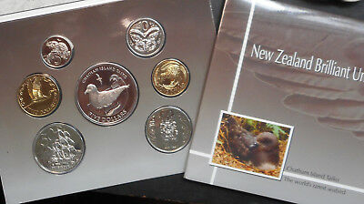 New Zealand 2004 Uncirculated Mint set inc Chatham Is Taiko 5 Dollar Bird