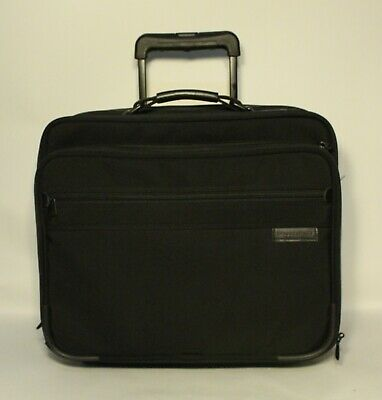 Briggs & Riley TRAVELWARE Black Rolling  Wheeled Upright Carry On Luggage