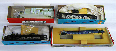 FIVE HO SCALE Intermodal Stack Cars by Walthers, A-Line, Athearn