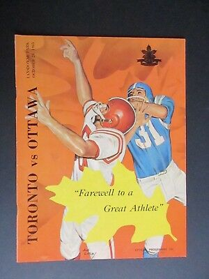 57beac9845c Vintage 1965 CFL Football Program - Toronto Argonauts vs Ottawa Rough Riders