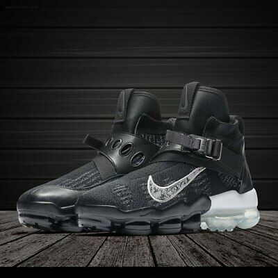 79a9b3f00c Nike Air VaporMax Premier Flyknit Men's Shoes Black White Size 11 AO3241-002