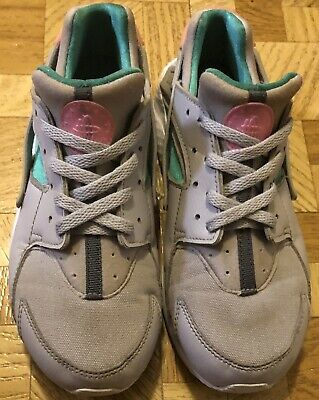 808cd133f2d36 Nike Huarache Run Little Kids 704949-034 Grey Green Sunset Shoes Youth Size  3Y