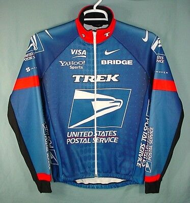 Nike Trek Usps Postal Team Insulated Cycling Jersey Made In Italy Mens  Medium dc29b6004