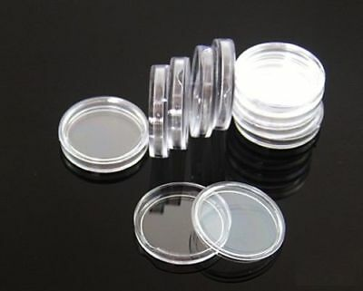 100 Direct Fit Airtight 18mm Coins Capsules Storage Holder for US Dimes