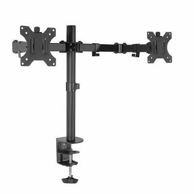 Artiss Dual LED Monitor Stand 2 Arm Hold Two LCD Screen TV Desk Mount Bracket
