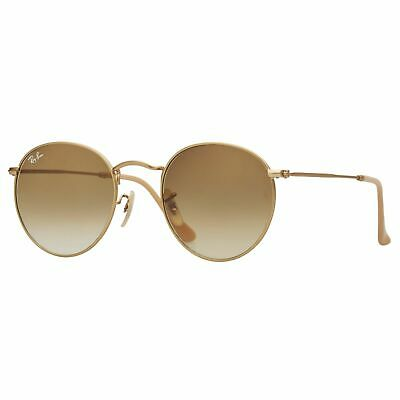 856ff72535 RayBan Round Metal Sunglasses - Gold Light Brown Gradient - 3447 001 51