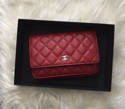 3a8c0c657330 CHANEL WALLET ON Chain Black Caviar with Gold Hardware - Excellent ...