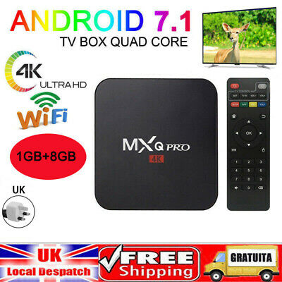2019 Ultra 4K MXQ Pro Quad Core Android TV Box HD Sports 3D Media Player
