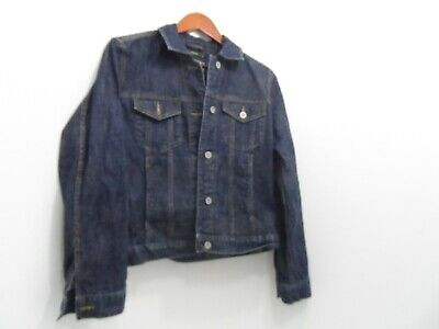5a7c566c68 EDDIE BAUER WOMEN S Denim Jean Jacket Size Medium Dark Wash Stretch ...